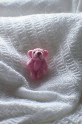 PINK smallest teddies baby loss memory box micro tiny teddy bears 3cm