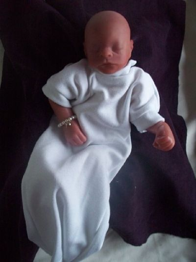 miscarriage at 18 weeks unisex baby burial gown in white