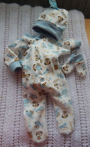 stillborn baby boy burial clothes PUPPY PALS babies born 24-25 weeks