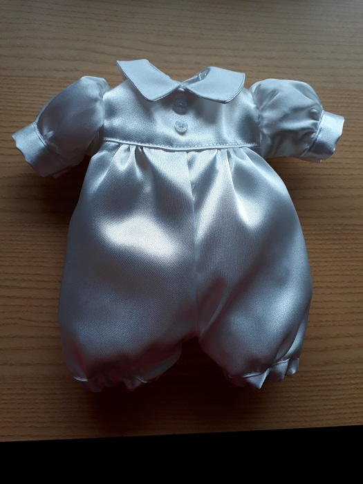 premature baby christening gowns etc BOYS SATIN ROMPER infant burial Born 24-25week