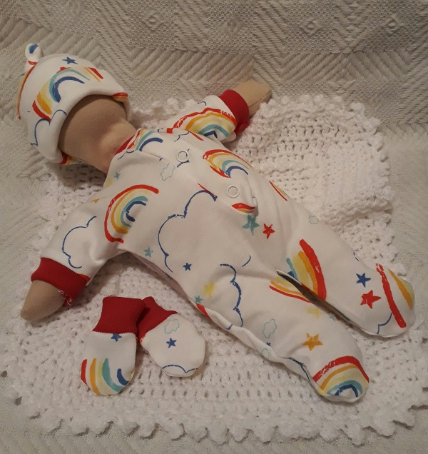 premature baby loss burial clothes UNISEX born at 24 weeks RAINBOW PROMISE