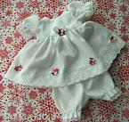 pretty girls baby burial dress gown sizes in 0-1lb LOVING YOU white