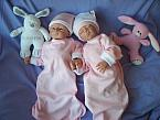 baby girls burial gowns twin babies born 20-24 weeks PINK AND WHITE pregnancy loss