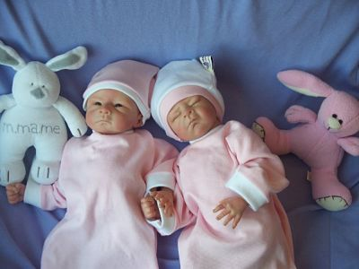 twins baby burial clothes 2 gowns born at 20weeks boys girls set