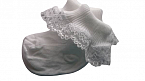 premature baby clothes funeral burial clothing 3-5lb white frilly socks