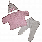 baby burial clothes girls JUMPER set born at 22 weeks pink white