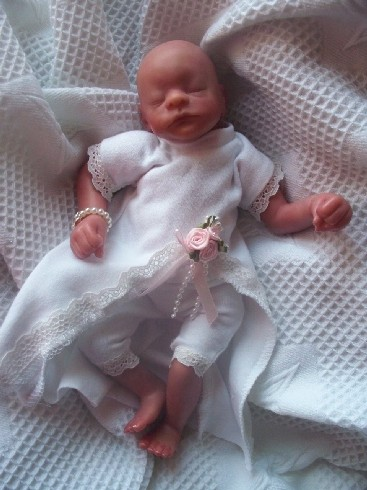 TINY BABY burial dress set MISS ELEGANCE 1-2LB burial gown funeral dress