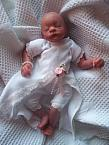 smallest premature baby girls burial clothes dress set MISS ELEGANCE 3-5LB