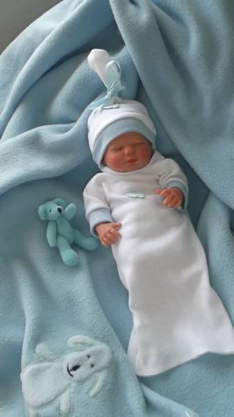 boys baby burial gown set born at 16-18 weeks TINY TOES stillborn miscarriage