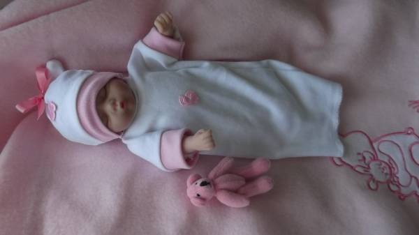 smallest baby burial gowns dress set TINY TOES pink born 16-18 weeks