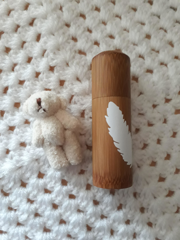baby ashes urns BAMBOO floaty feathers Preterm mini cremation urn