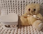 baby cremation urn biodegradeable scattering ashes tube BABA BEAR White
