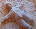 angel babies UNISEX stillborn baby burial clothes born at 20 weeks WHITE