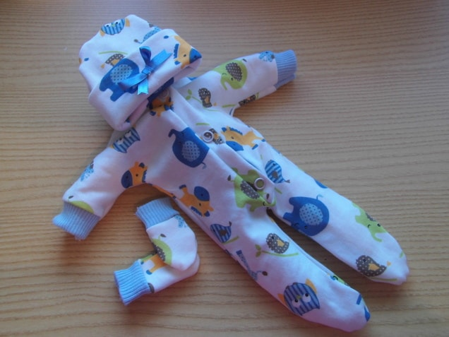 baby burial clothes death funeral BLUE PONY WONDERS  born 24 weeks